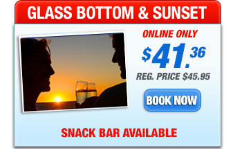 glass bottom boat sunset trip
